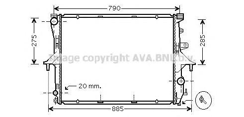 VWA2199 Радиатор VAG Q7 3.0-4.2 06- /TOUAREG 3.0-6.0 02-10