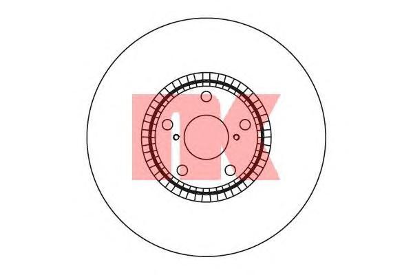 2045104 Диск тормозной LEXUS GS 300-460 05- передний левый