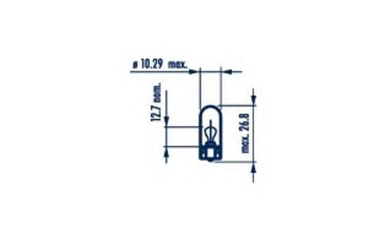 17169 Лампа накаливания 10шт в упаковке WY5W NA 12V (оранжевая)