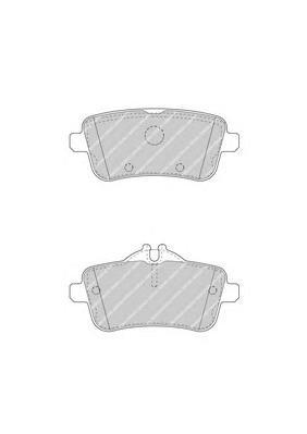 FDB4587 Колодки тормозные MERCEDES GL X166/ML W166 задние