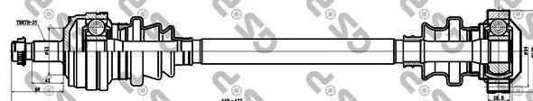 235005 Привод в сборе MB E W124 2.5D-3.0D 84-93 зад.лев./прав.