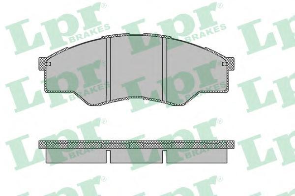 05P1452 Колодки тормозные TOYOTA HILUX 06- передние