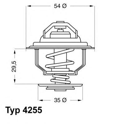 425592D Термостат OPEL FORNTERA/OMEGA/SENATOR 2.4-3.0/2.0D-2.3TD 87-94