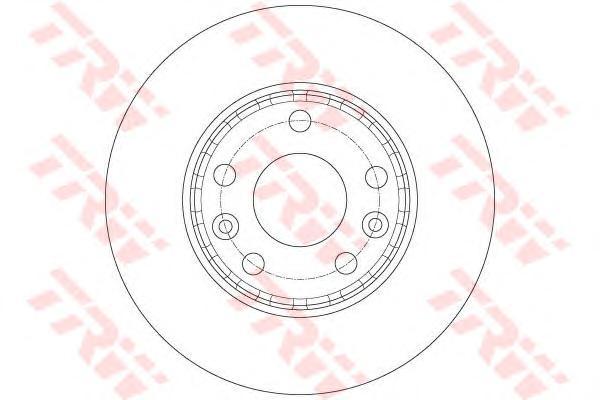 DF6072 Диск тормозной RENAULT FLUENCE 10-/DUSTER 11- передний вент.D=280мм.