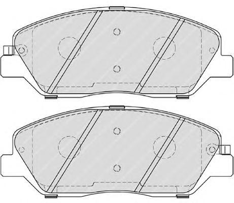 FDB4111 Колодки тормозные HYUNDAI SANTA FE (CM)/(SM) 05-/KIA SORENTO (XM) 09- передние