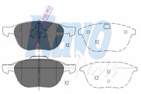 KBP4513 Колодки тормозные FORD FOCUS II 04-/MAZDA 3 03-/VOLVO S40 04- передние