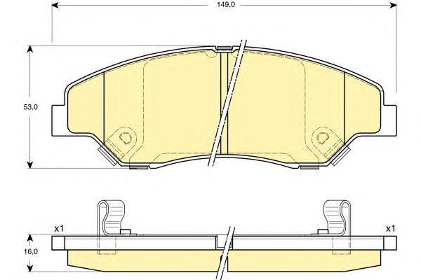 6132419 Колодки тормозные KIA SPORTAGE 2.0 94-03 передние