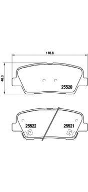 P30063 Колодки тормозные HYUNDAI SANTA FE (CM) 2.2D 09-/KIA SORENTO (XM) 09- задние