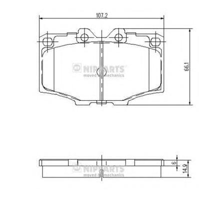 J3602036 Колодки тормозные TOYOTA LAND CRUISER 2.4-4.2 75-93 передние
