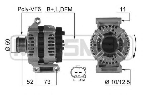 210421 Генератор FIAT DUCATO 2.2 D/FORD TRANSIT 2.2 TDCI 06- 150A