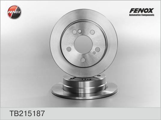 TB215187 Диск тормозной MERCEDES W201 1.8-2.6/W124 200-300 задний D=258мм.