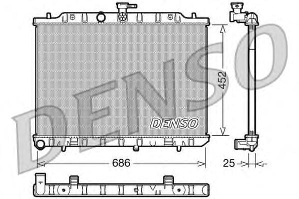 DRM46007 Радиатор NISSAN X-TRAIL 2.0D 06-