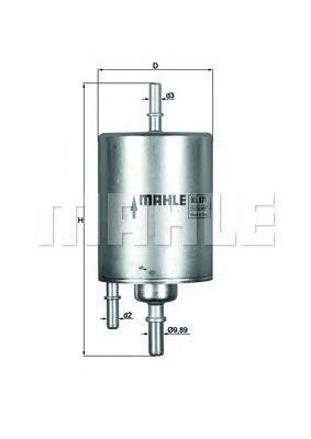 KL571 Фильтр топливный AUDI A4/A6/A8 2.0-5.2 04-