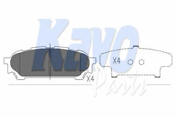 KBP8019 Колодки тормозные SUBARU IMPREZA 2.0 11.02- задние