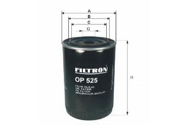 OP525 Фильтр масляный VW G2/G3/PASSAT/TRANSPORTER/AUDI 80/100/A6 1.3D-2.5D