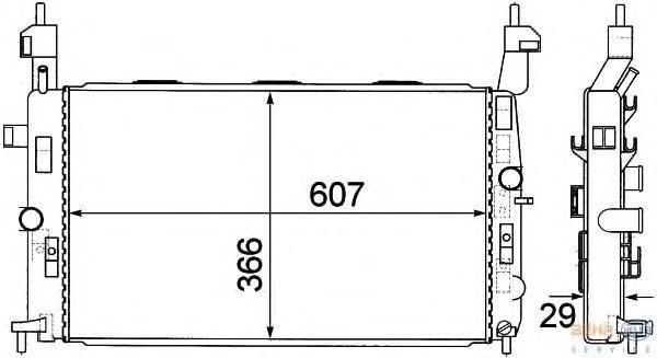 8MK376771221 Радиатор системы охлаждения OPEL: MERIVA 1.4 16V Twinport/1.6/1.6 16V/1.8 03-