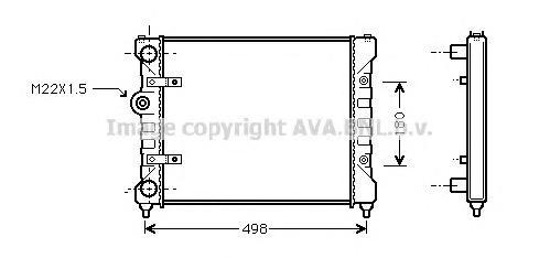 ST2022 Радиатор системы охлаждения SEAT: CORDOBA (6K2/C2) 1.0 i/1.6 i/1.7 SDI/1.9 SDI 93 - 99 , CORDOBA Vario (6K5) 1.6 i/1.7 SD