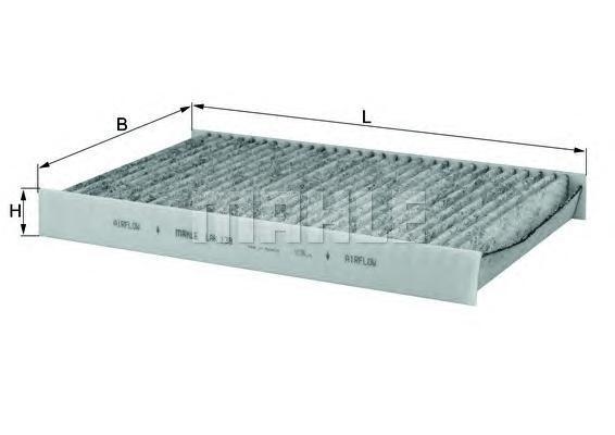 LAK138 Фильтр салона CITROEN C3/C4/PEUGEOT 307/308 02 угольный
