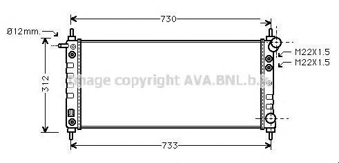 OL2264 Радиатор OPEL CORSA B 1.0/1.2 96-00