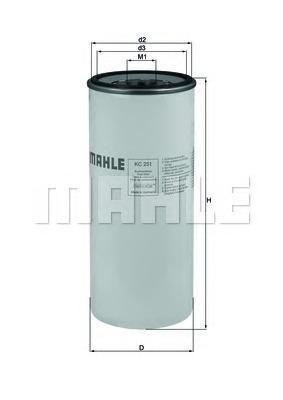 KC251 Фильтр топливный RENAULT/VOLVO TRUCKS