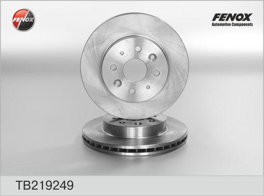 TB219249 Диск тормозной KIA RIO 00-05 передний вент.D=254мм.