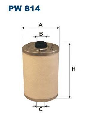 PW814 Фильтр топливный MB TRUCK/BUS
