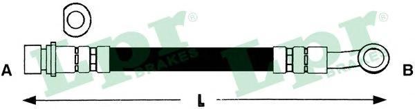 6T48264 Шланг тормозной HONDA ACCORD 03- задний левый