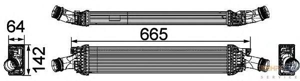 8ML376746191 Интеркулер AUDI A4/S4 1.8TFSI 07-