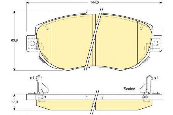 6132359 Колодки тормозные LEXUS GS/IS/SC 3.0-4.3 97- передние