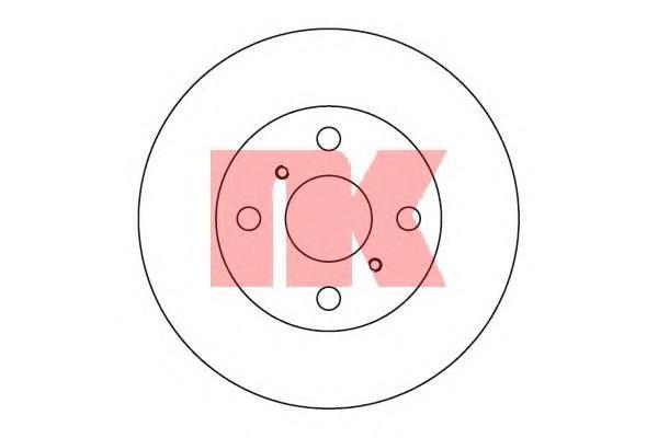 204526 Диск тормозной TOYOTA COROLLA 1.3-1.8 87-97 передний