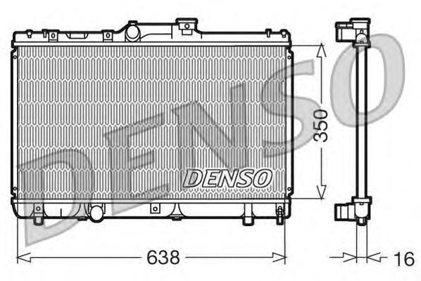 DRM50013 Радиатор системы охлаждения TOYOTA: COROLLA (E10) 1.3 12V (EE100)/1.6 Si (AE101) 92 - 99 , COROLLA (E11) 1.4 (EE111)/1.