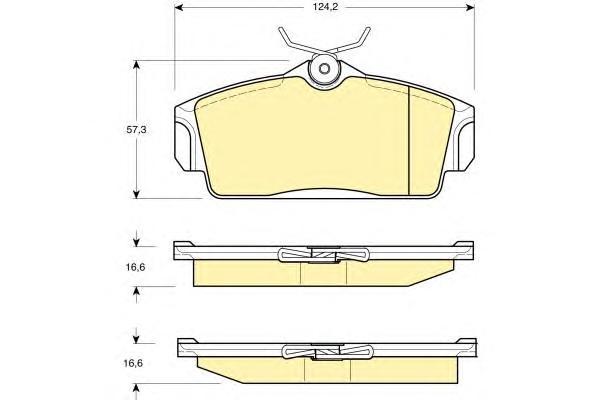6131681 Колодки тормозные NISSAN ALMERA 00/PRIMERA 9602 передние