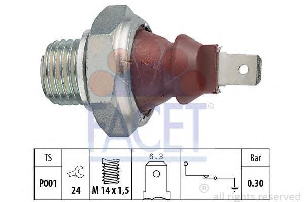70023 Датчик давления масла OPEL: ASCONA C (81_, 86_, 87_, 88_) 1.3 N/1.6/1.6 S/1.8/1.8 E/1.8 i/2.0 i/2.0 i GT/2.0 i KAT 81-88,