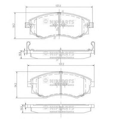 J3601055 Колодки тормозные KIA MAGENTIS 01- передние