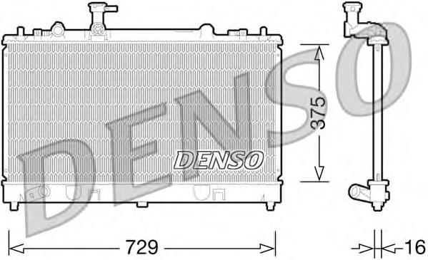 DRM44028 Радиатор системы охлаждения MAZDA: 6 (GG) 2.3 02-, 6 HATCHBACK (GG) 2.3 02-, 6 STATION WAGON (GY) 2.3/2.3 AWD 02-
