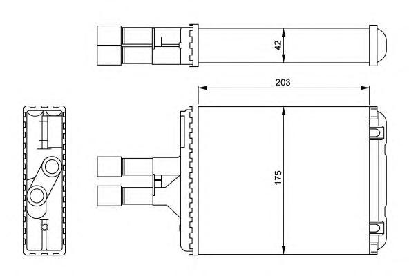 54242 Теплообменник OP Vectra B 1,6-2,6