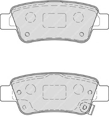 FDB4233 Колодки тормозные HONDA CR-V III 07- задние