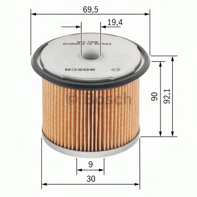 1457429656 Фильтр топливный OPEL 1.7D-3.0D