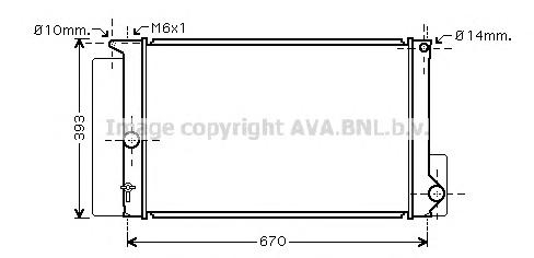TOA2397 Радиатор TOYOTA AURIS 1.33-1.8 M/T 06-