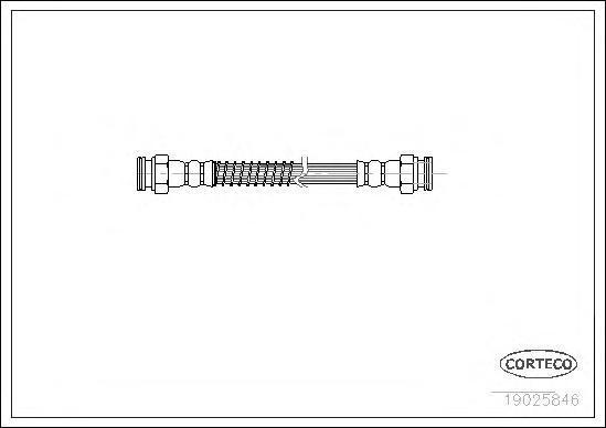 19025846 Шланг тормозной Citroen