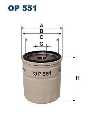 OP551 Фильтр масляный OPEL/FORD -98