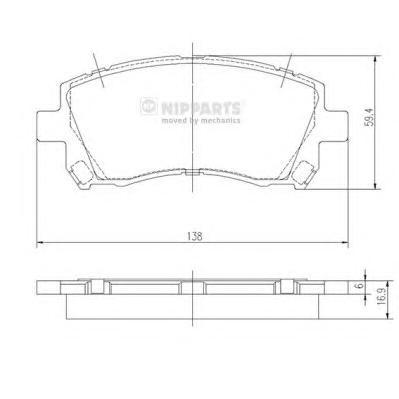 J3607013 Колодки тормозные SUBARU FORESTER 9702/LEGACY 9603/OUTBACK 0003 передние
