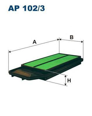 AP1023 Фильтр воздушный HONDA ACCORD 2.0/2.4 03-