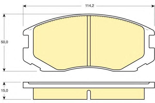 6130469 Колодки тормозные MITSUBISHI COLT/LANCER 1.3-1.6 88-03 передние