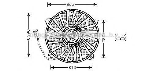 PE7530 Мотор вентилятора PEUGEOT 406