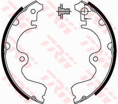 GS8554 Колодки торм.бар.TOYOTA PASEO/STARLET 1.0-1.5 89-99