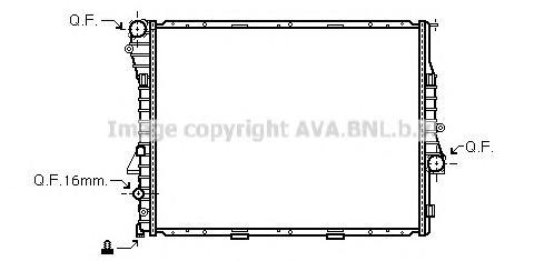 BWA2276 Радиатор BMW E53 4.4-4.8/3.0D 00-04