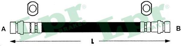 6T47439 Шланг тормозной TOYOTA RAV 4 2.0 94-00 задний