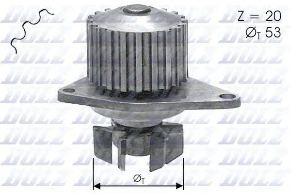 C110 Насос водяной Citroen ZX/Xsara/AX 1.0-1.4/1.4D 87-