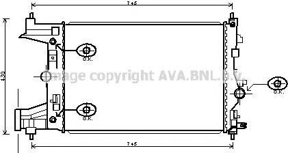 OLA2486 Радиатор OPEL ASTRA J 1.6 M/T 09-